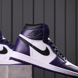 "Air Jordan 1 High OG ""Court Purple sneakers shoes"